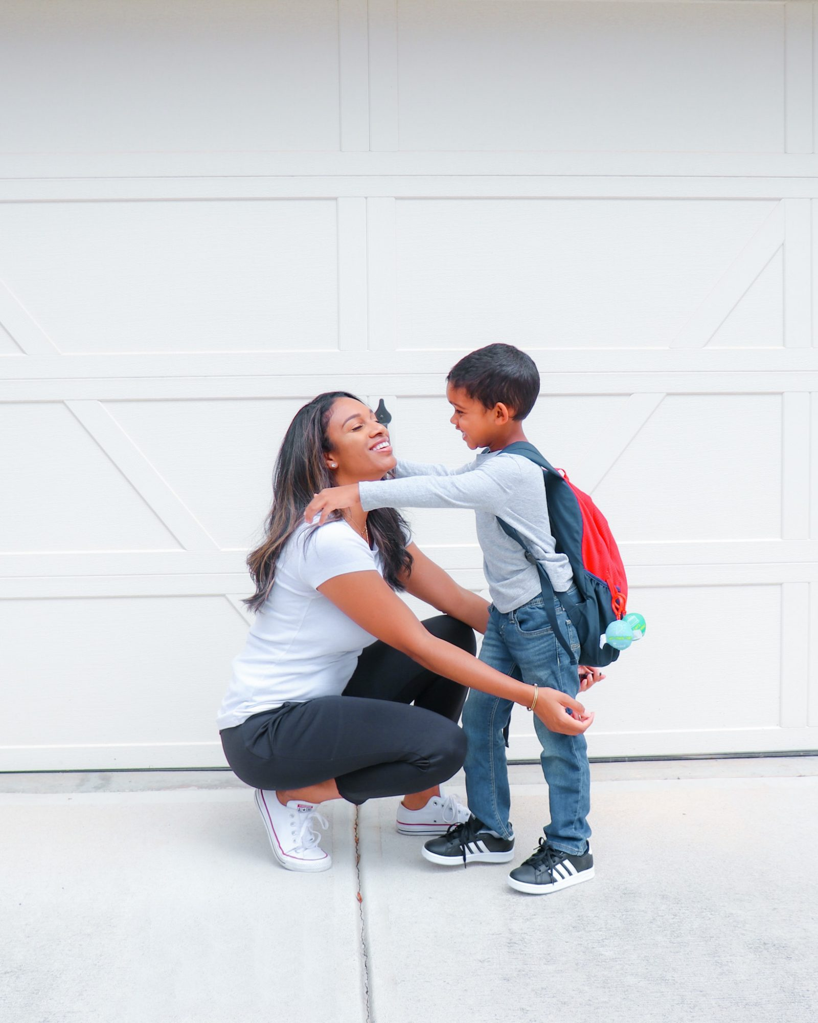 Mom and Son Famous Footwear Sneakers, Back To School
