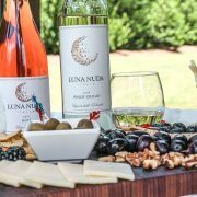 Charcuterie Board, Luna Nuda Wine