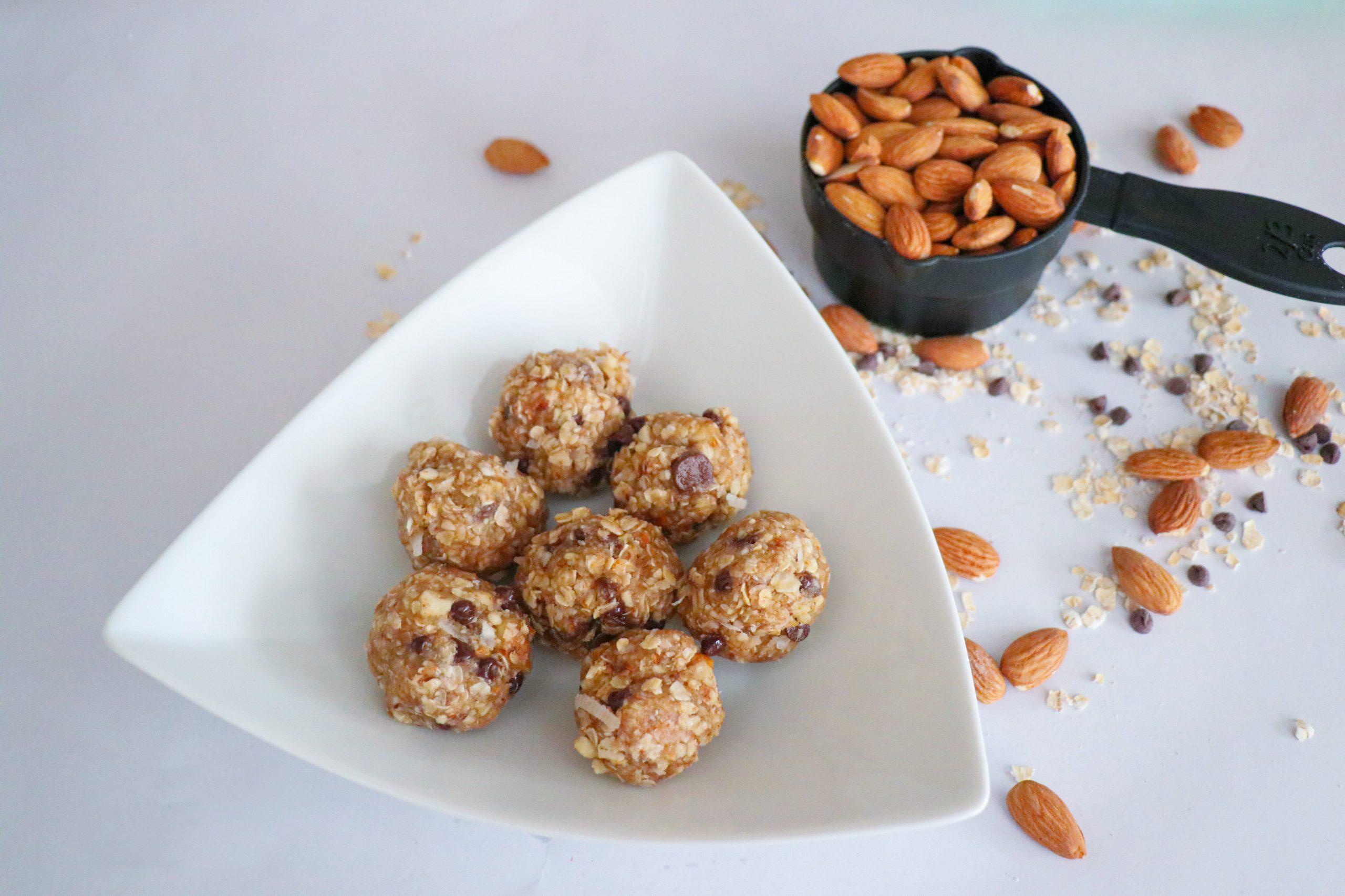 No Bake Energy Bites Using Blue Diamond Almonds