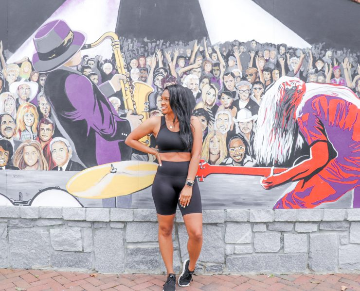 Spanx Biker Shorts, Spanx Sports Bras, Atlanta Murals
